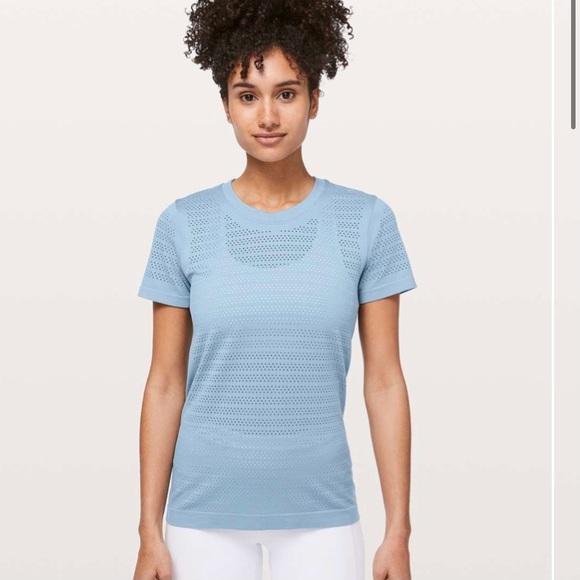 Lululemon Breeze By Short Sleeve *Squad light blue
